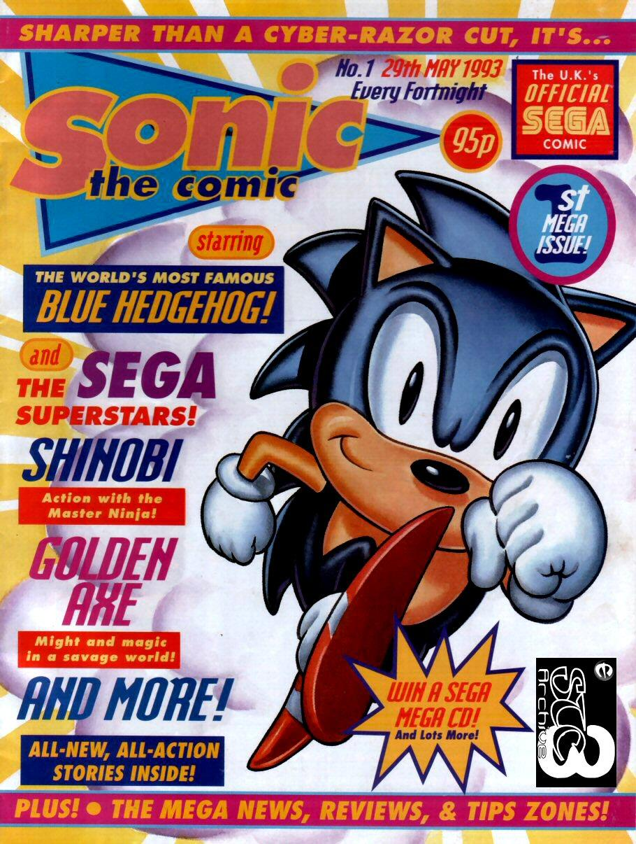 Sonic the Comic Issue 001 Cover