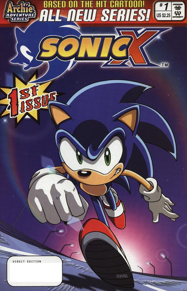 Sonic X Issue 01 Cover