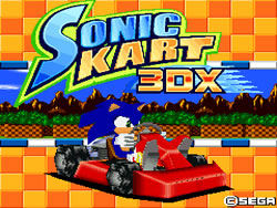 Sonic Kart 3D X Front cover