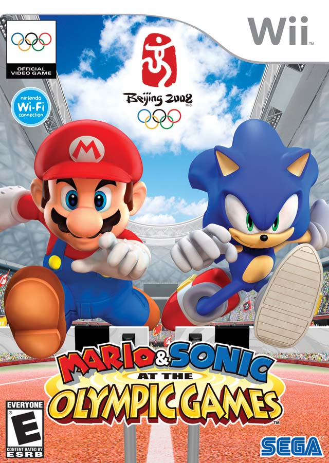 Mario and Sonic Beijing 2008 front cover