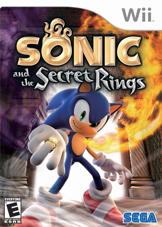 Sonic and the Secret Rings front cover