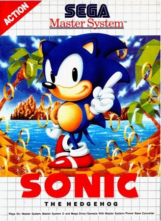 Sonic the Hedgehog front cover - Master System version