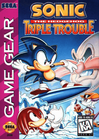 Sonic the Hedgehog Triple Trouble Front Cover